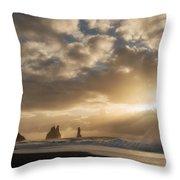 Icelandic Seascape Throw Pillow