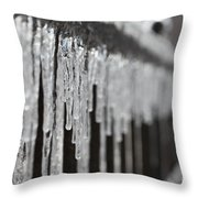Icicles At Attention Throw Pillow
