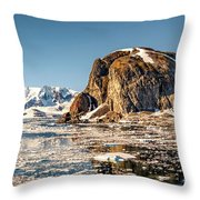 Icy Water Throw Pillow