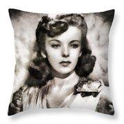 Ida Lupino, Vintage Actress Throw Pillow