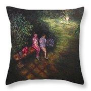 If Cinderella Had A Garden Throw Pillow by J Reynolds Dail