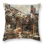 Ightham Mote Throw Pillow