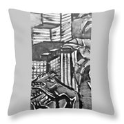 Iguana City Throw Pillow