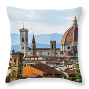 Il Duomo In Florence Throw Pillow
