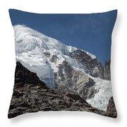 Illampu Mountain Throw Pillow