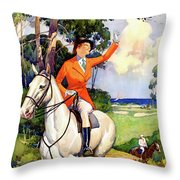 Illinois Mississippi Restored Vintage Poster Throw Pillow