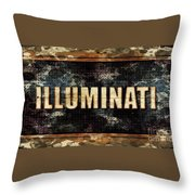 Illuminati Pop Art By Mary Bassett Throw Pillow
