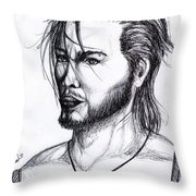 Imaginative Portrait Drawing  Throw Pillow