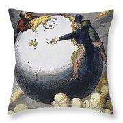 Imperialism Cartoon, 1876 Throw Pillow by Granger