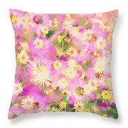Impressionist Floral Xvi Throw Pillow