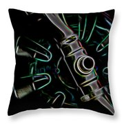 In Color Abstract 11 Throw Pillow
