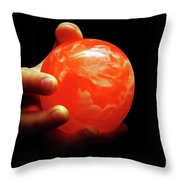 1 In Her Hand Throw Pillow