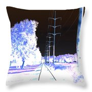 In Line Throw Pillow