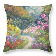 In Monets Footsteps Throw Pillow