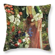 In The Bey's Garden Throw Pillow