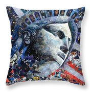 In The Line Of Duty Throw Pillow