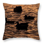 In The Liquid Gold Throw Pillow