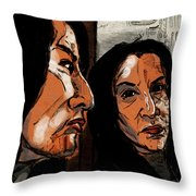 In The Mirror Throw Pillow