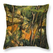In The Park Of Chateau Noir Throw Pillow