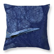 In The Swiss Alps Throw Pillow