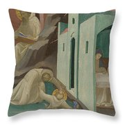 Incidents In The Life Of Saint Benedict Throw Pillow
