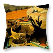 Indian Baskets 2 Throw Pillow