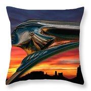 Indian Rainbow Throw Pillow