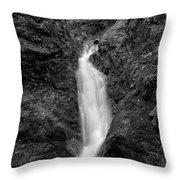 Indian Well Flows Bw Throw Pillow