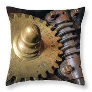 Industrial Gear Throw Pillow