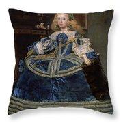 Infanta Margarita Teresa In A Blue Dress Throw Pillow