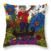 Inner Planetary Rage Head Throw Pillow