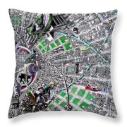 Inside Orbital City Throw Pillow