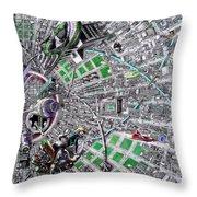 Inside Orbital City Throw Pillow
