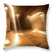Inside Violin Throw Pillow