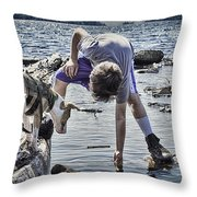 Interested Curiosity Throw Pillow