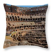 Interior Of The Coliseum, Rome, Italy Throw Pillow