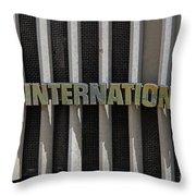 International Semi Truck Emblem Throw Pillow