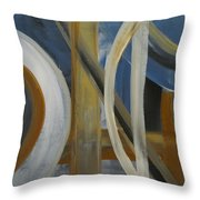 Intersection In Blue 1 Throw Pillow