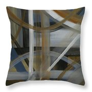 Intersection In Blue 4 Throw Pillow