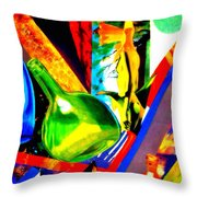 Intersections Abstract Collage Throw Pillow