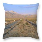Interstate 15, Near Las Vegas, After Throw Pillow