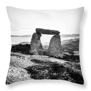 Inukshuk At Sunset, Terence Bay, Nova Scotia Throw Pillow