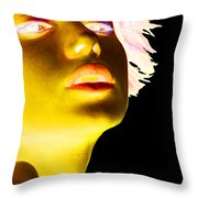 Inverted Realities - Yellow  Throw Pillow
