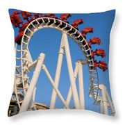 Inverted Roller Coaster Throw Pillow