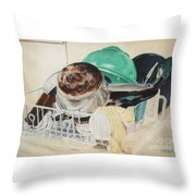 Invisible Work Throw Pillow
