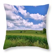 Iowa Cornfield Throw Pillow