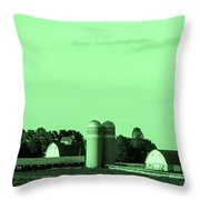 Iowa Farm Panorama Throw Pillow