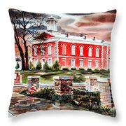 Iron County Courthouse II Throw Pillow by Kip DeVore