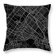 Irvine California Usa Dark Map Throw Pillow