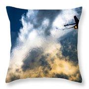 Israel Air Force F-16a Netz Throw Pillow